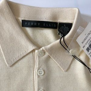 Perry Ellis Knit Men's Polo Size L NWT